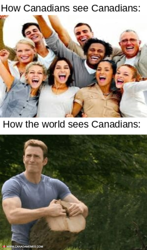 How Canadians see Canadians vs The rest of the world