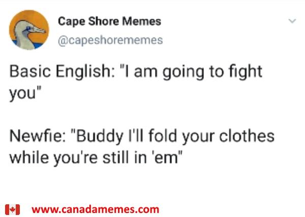 Fighting words: English vs Newfie English