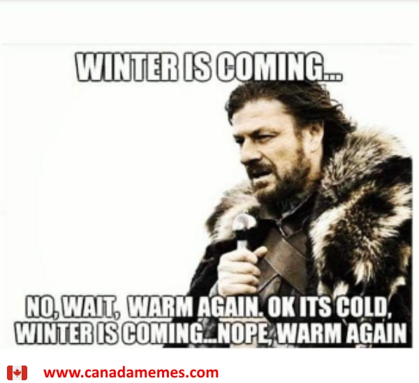 Winter is coming. Or is it?
