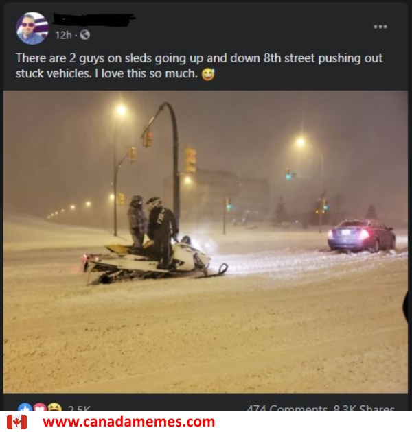 Meanwhile in Saskatoon