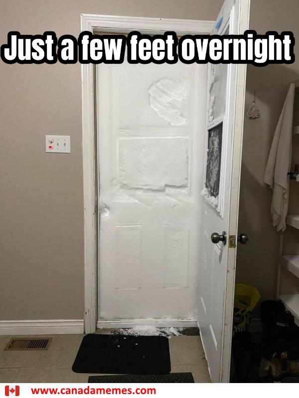 Just a few feet overnight