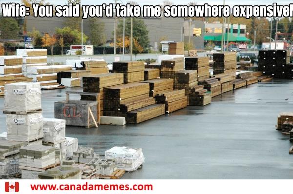 Wife: You said you'd take me somewhere expensive...