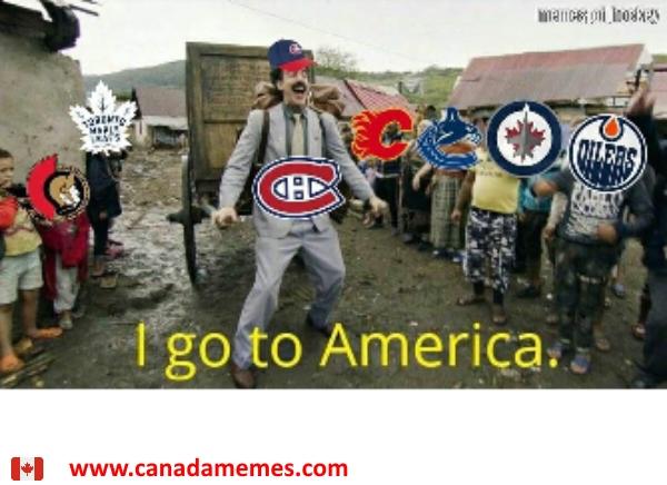 Canadiens: I go to America