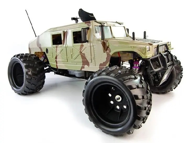 HUMMER 26CC 1/5TH GASOLONE RC MONSTER TRUCK - 2.4Ghz