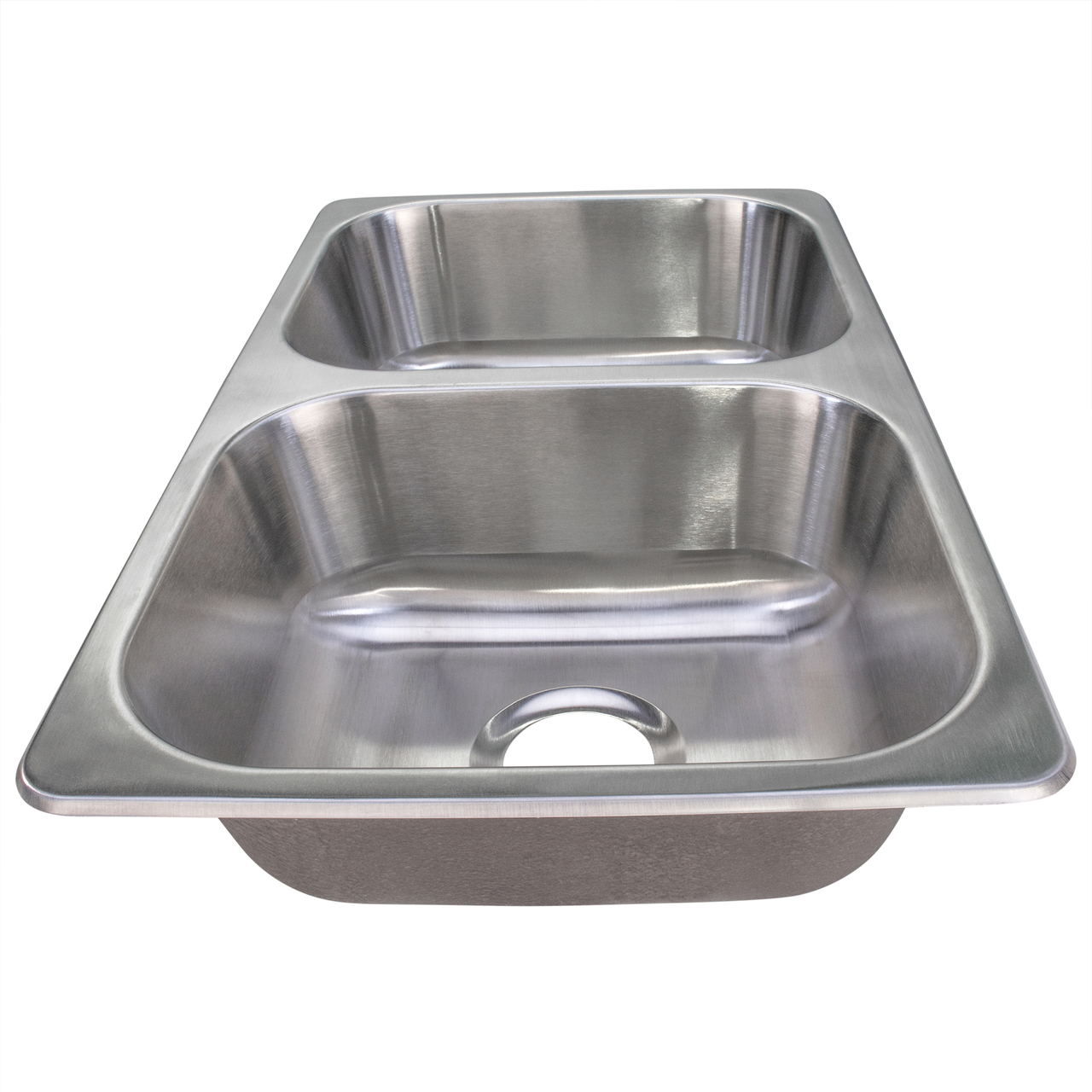double stainless steel rv sink 27 x 16 x 7