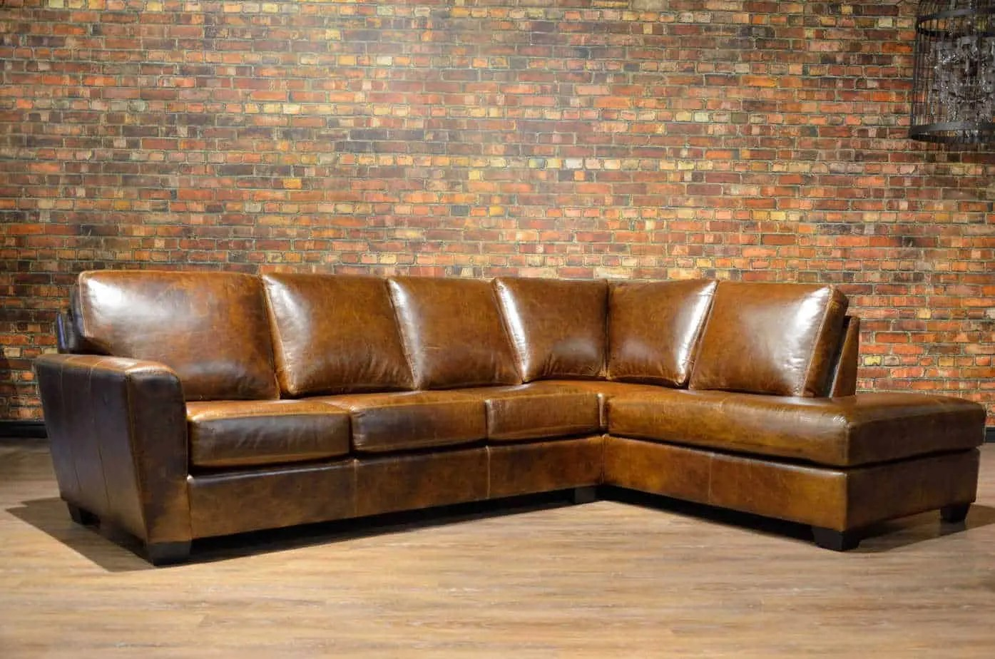 the bolton leather sectional