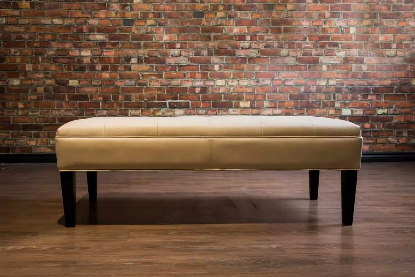 the condo leather coffee table ottoman collection