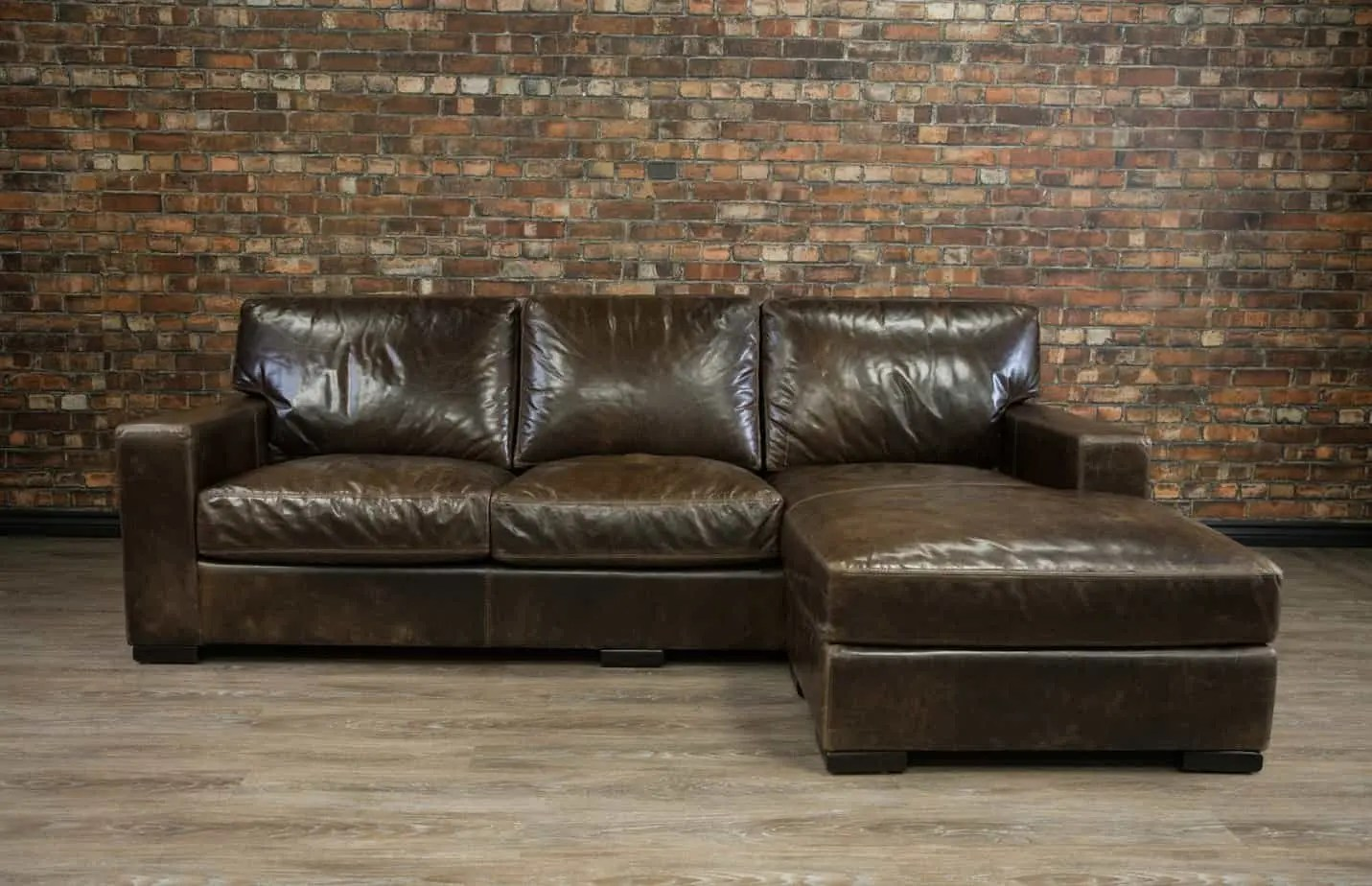 maxell deep seat leather chaise rhc