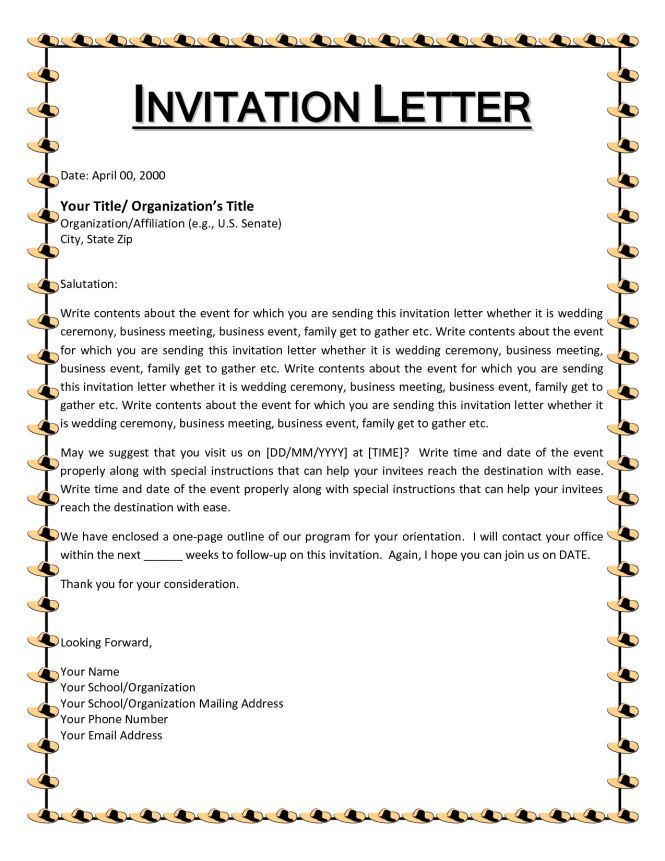 marriage invitation letter to boss Chatterzoom – Farewell Party Invitation Letter