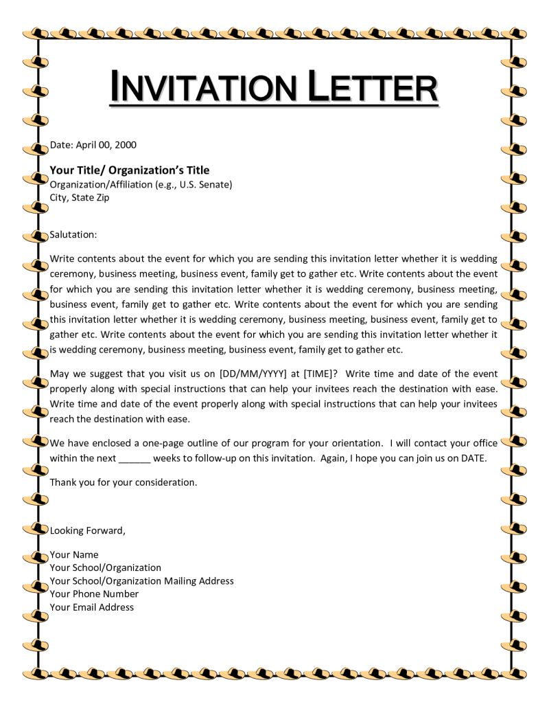 Business letter of invitation choice image letter examples ideas business letter invitation to an event free teacher resume how to write an official invitation letter stopboris Images