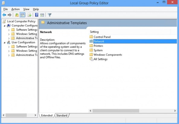 Under Computer Configuration, select Administrative Templates
