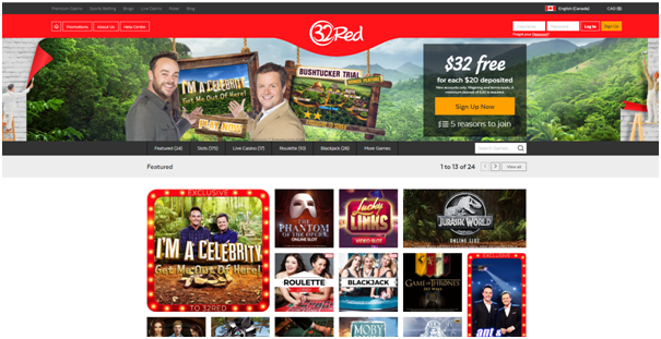 32 red online casino canada
