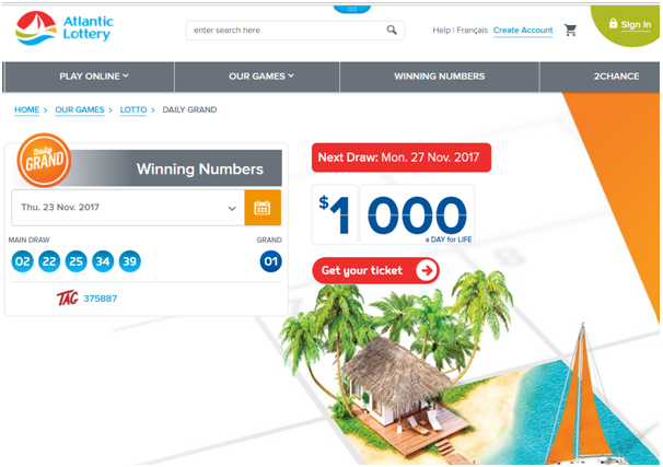 Daily Grand Lottery - How to play online