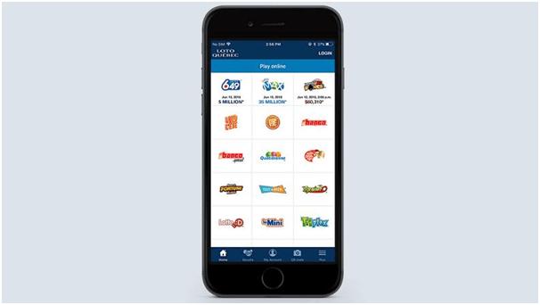 Lotto Quebec App features