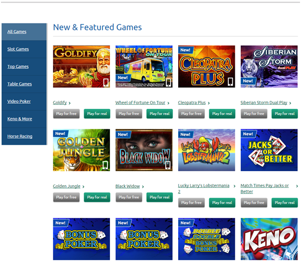 OLG slots games to play