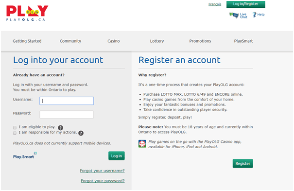 How to register at OLG and play slots