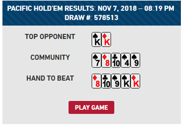 Pacific poker holdem draw