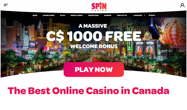 Spin Casino - Play and win in CAD