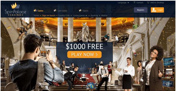 Spin Palace Canada bonuses