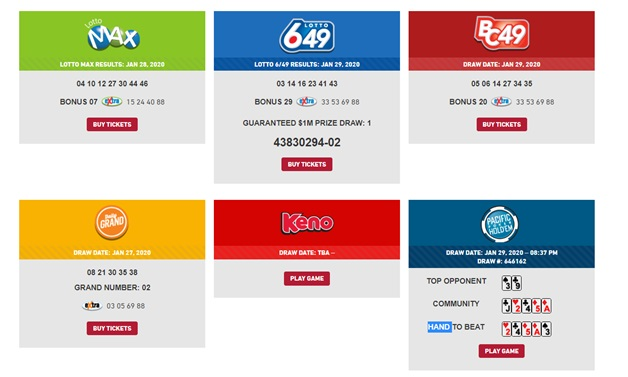 How to make a deposit at Playnow Canada to play Lotteries?