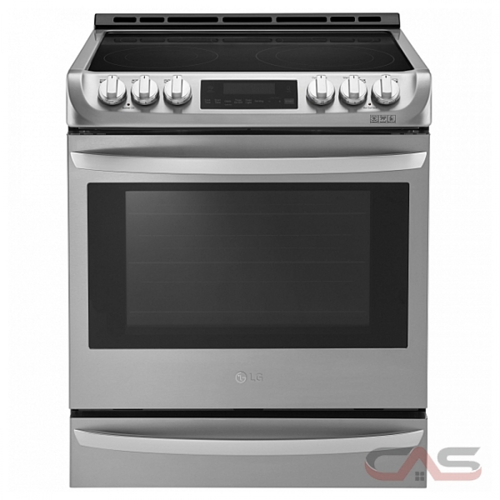 lg lse5613st range free standing slide in electric range 30 inch exterior width self clean convection 5 burners glass burners electric 6 3