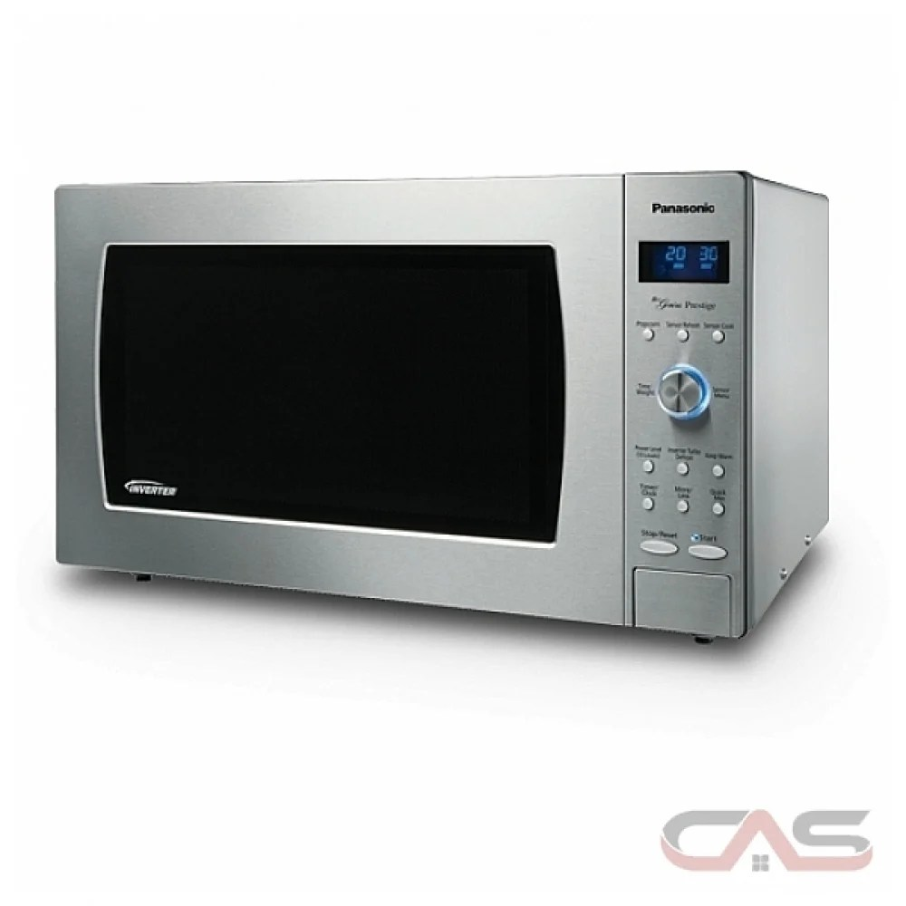 panasonic nnsd986s countertop microwave 2 2 cu ft capacity 1200w watts 24 inch exterior width stainless steel colour