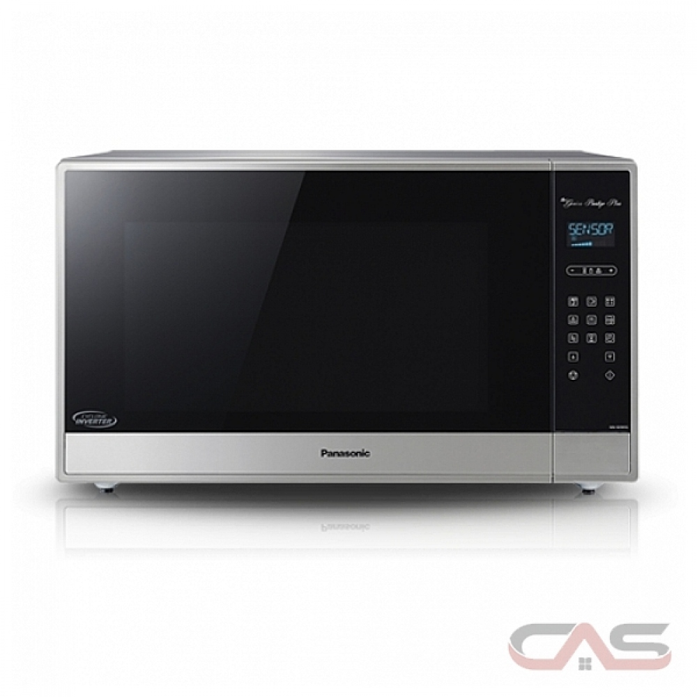panasonic nnse995s countertop microwave 2 2 cu ft capacity 1200w watts 24 inch exterior width stainless steel colour