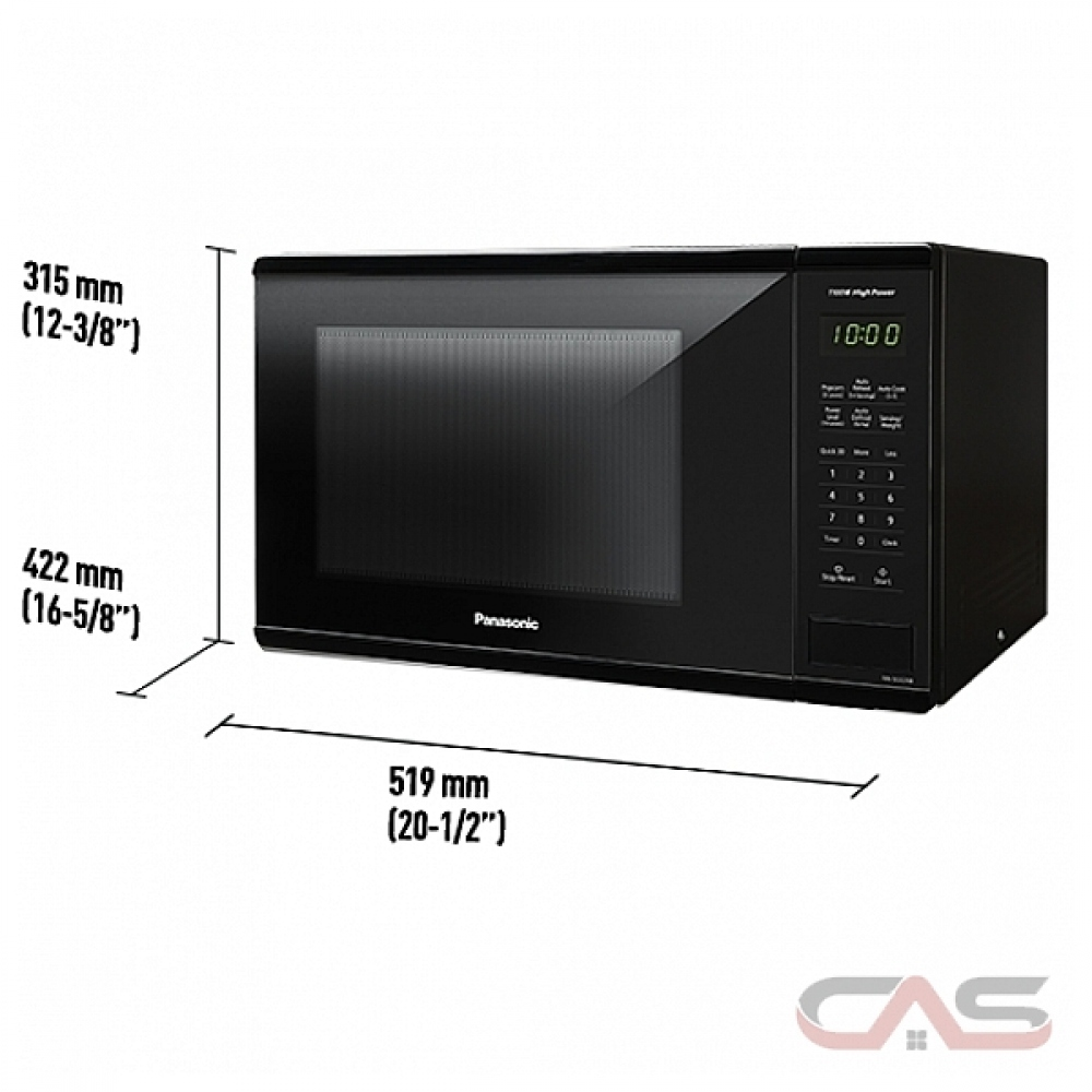 panasonic nnsg626b countertop microwave 1 3 cu ft capacity 1100w watts 20 inch exterior width black colour