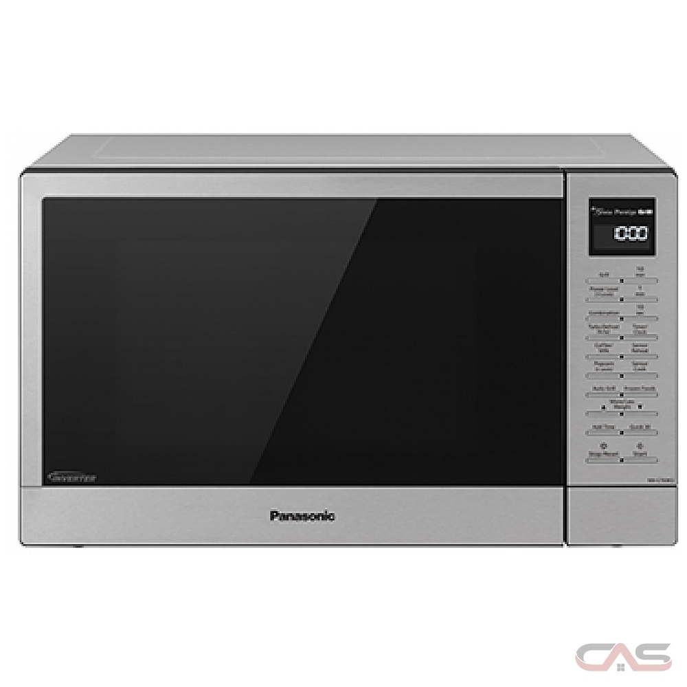 panasonic nngt69ks countertop microwave 1 1 cu ft capacity 1100w watts 20 inch exterior width stainless steel colour