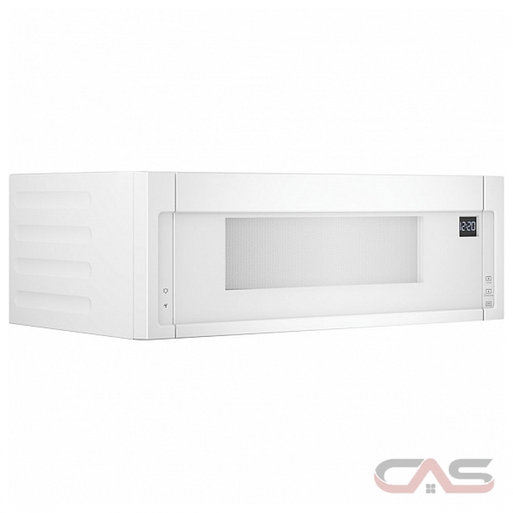 whirlpool ywml55011hw over the range microwave 1 1 cu ft capacity 400 cfm 900w watts halogen 30 inch exterior width white colour