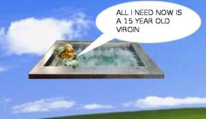 GOD IN A HOT TUB