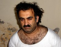 [Photo of Khalid Sheikh Mohammed shortly after his capture.]