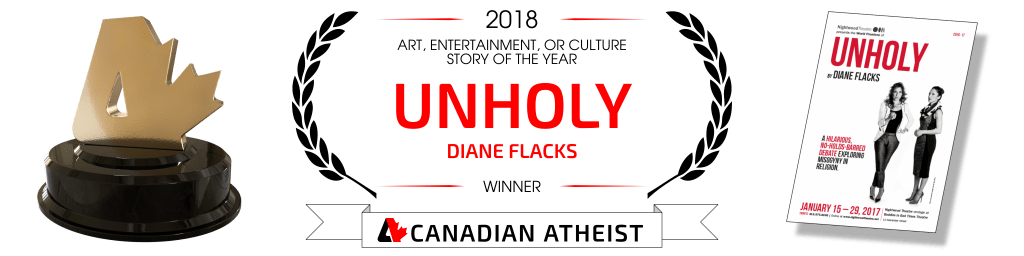 [Canadian Atheist 2018 award - Art, entertainment, or culture story of the year]