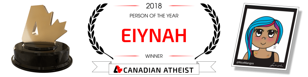[Canadian Atheist 2018 award - Person of the year]