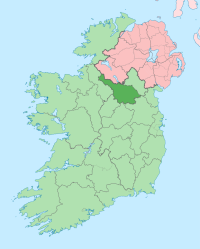 [Map showing the location of Cavan County in Ireland.]