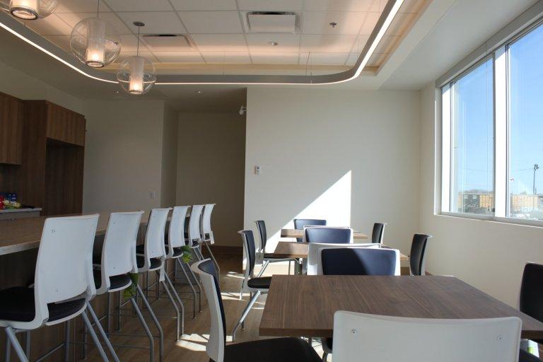 Staff room.