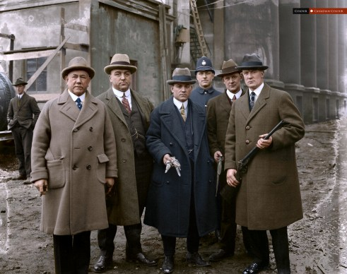 Detectives - Colourized Photograph