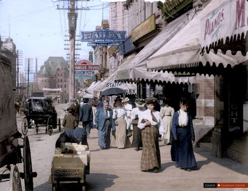 Granville Street - Colourized Photograph