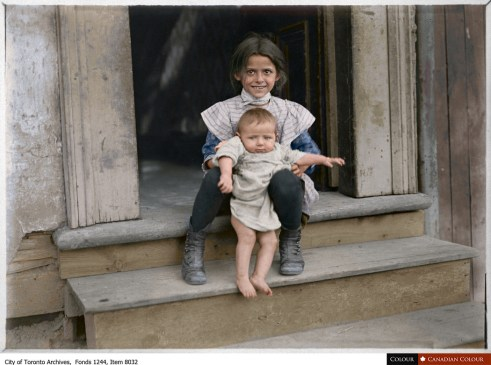 Kids in the Ward - Colourized Photograph