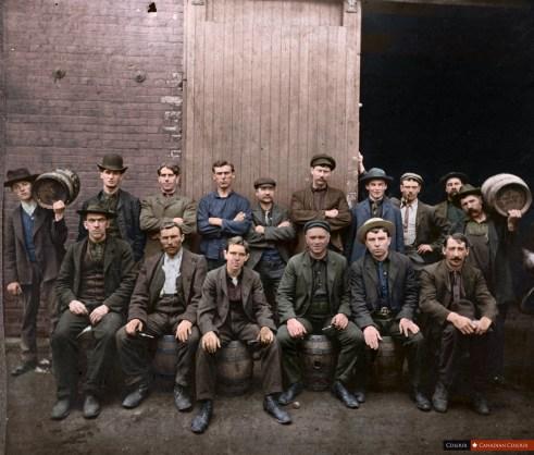 O'Keefe Brewery, Toronto - Colourized Photograph