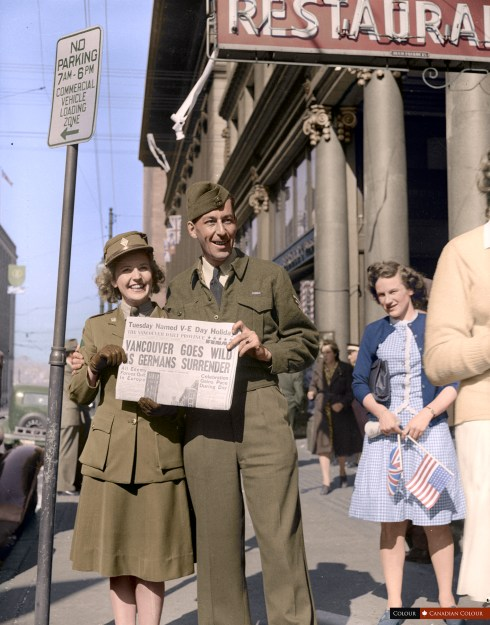 VE Day - Colourized Photograph