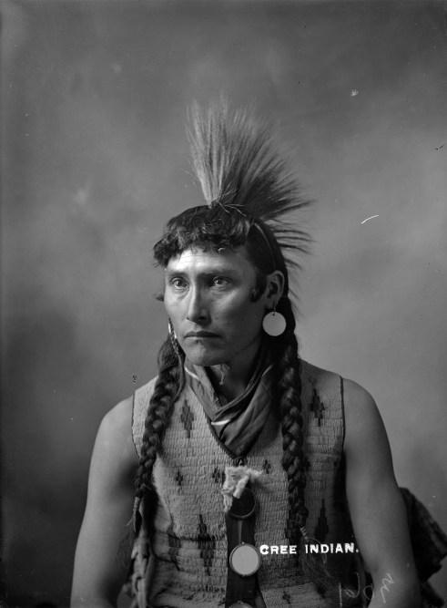 Cree, Alberta, 1903 - Original Photograph