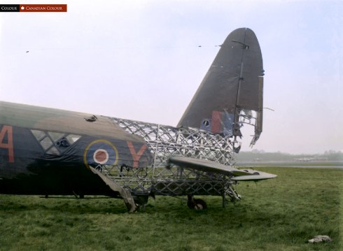 Vickers Wellington - Colourized Photograph