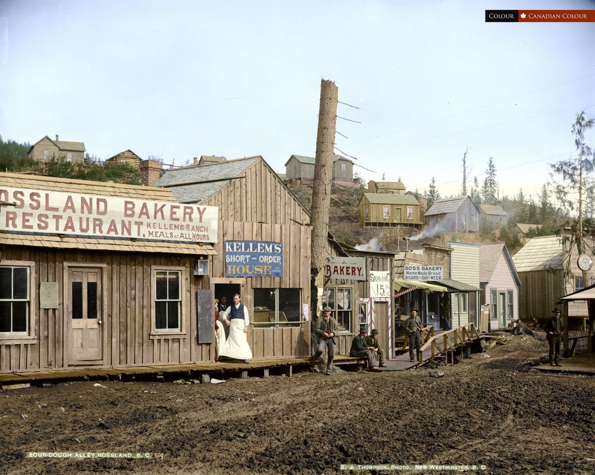Rossland 1895 - Colourized Photograph