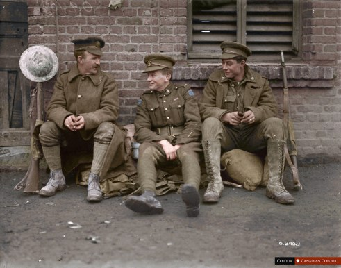 Pte Thomas W Holmes, VC - Colourized Photograph