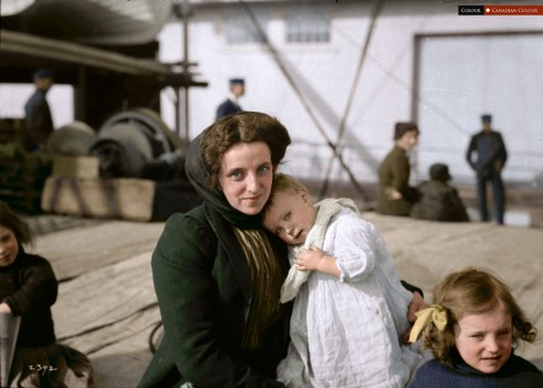 Scottish Immigrant - Colourized photograph