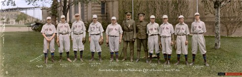Baseball Team 170th - Colourized Photo