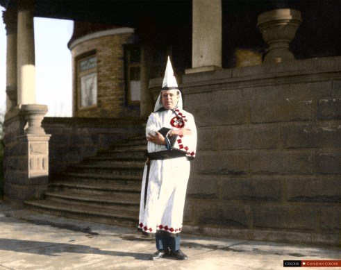 Ku Klux Klan Member - Colourized Photo