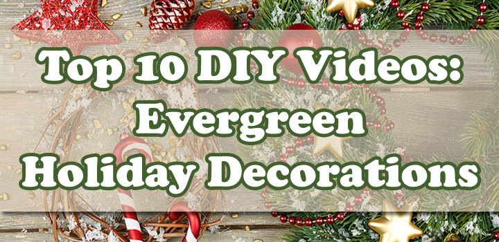 Top 10 Videos: DIY Evergreen Wreaths, Centerpieces, Etc.