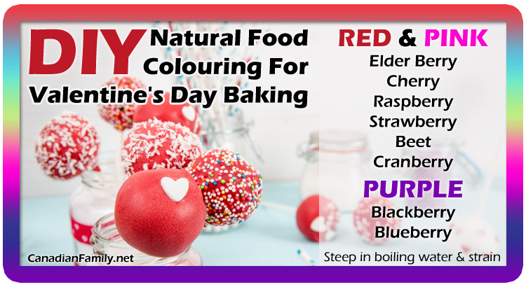 DIY Natural Food Colouring for Valentine's Day Baking ©